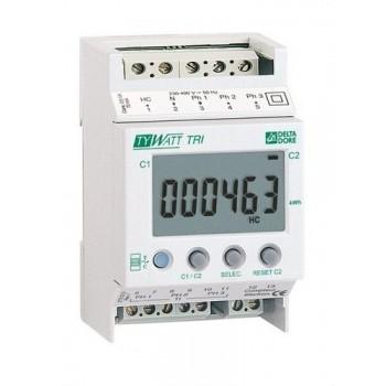 Indicador consumo TYWATT TRI instalación trifásico con referencia 6110010 de la marca DELTA DORE.