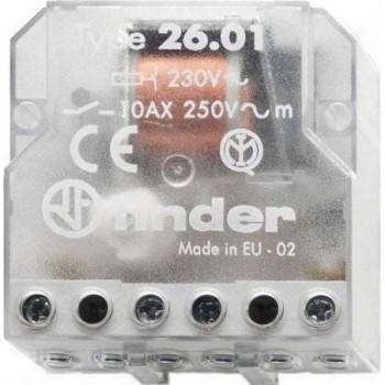 RELE ENCASTRADO INTERRUPTOR UNIPOLAR 1 CONTACTO ABIERTO 230VAC con referencia 260182300000 de la marca FINDER.