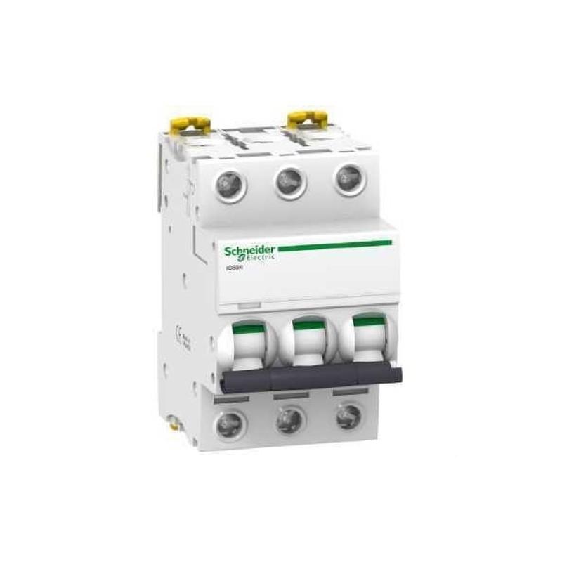 INTERRUPTOR AUTOMATICO MAGNETOTERMICO IC60N 3 POLOS 4A CURVA-B con referencia A9F73304 de la marca SCHNEIDER ELEC.
