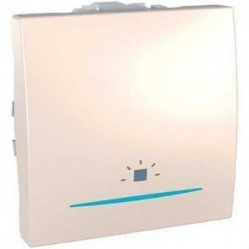 PULSADOR LUZ CON LED LOCALIZADOR AZUL MODULO ANCHO MARFIL  con referencia MGU3.206.25LNL de la marca SCHNEIDER ELEC.