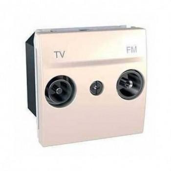 TOMA TV/FM INTERMEDIA MARFIL SERIE UNICA con referencia U3.453.25 de la marca SCHNEIDER ELEC.