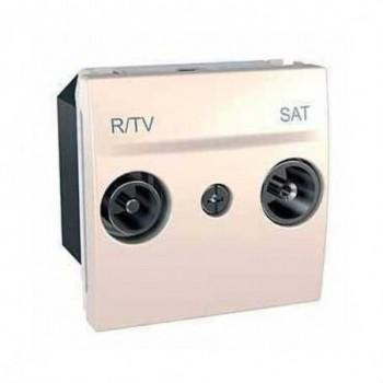 TOMA R-TV/SAT INTERMEDIA MARFIL SERIE UNICA con referencia U3.456.25 de la marca SCHNEIDER ELEC.
