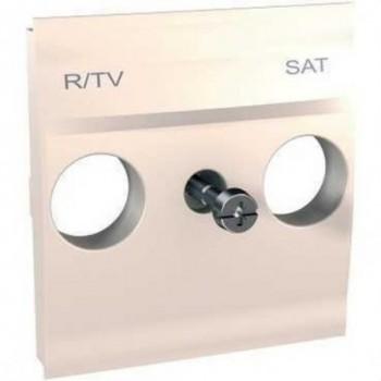 CARATULA TOMA R-TV/SAT MARFIL SERIE UNICA con referencia U9.441.25 de la marca SCHNEIDER ELEC.