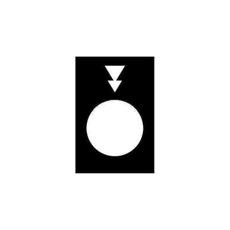 ETIQUETA FIGURIN BAJADA PV-GV con referencia ZB2BY2956 de la marca SCHNEIDER ELEC.