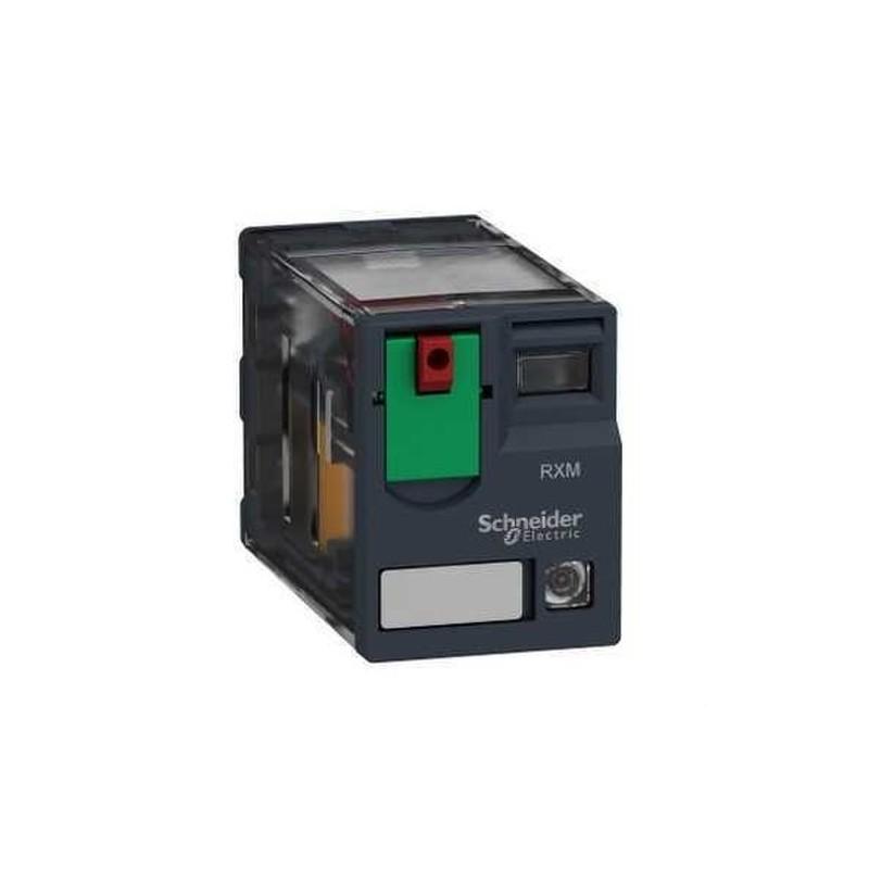 RELE MINIATURA 10A 3NA/NF CON LED 24VCA  con referencia RXM3AB2B7 de la marca SCHNEIDER ELEC.