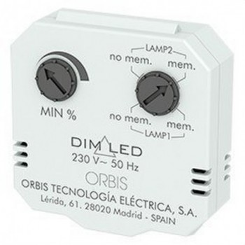Regulador luminosidad DIM LED 3-4 hilos con referencia OB200009 de la marca ORBIS.