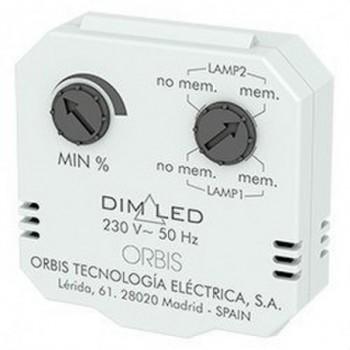 Regulador luminosidad DIM LED 3-4 hilos con referencia OB200009 de la marca ORBIS.