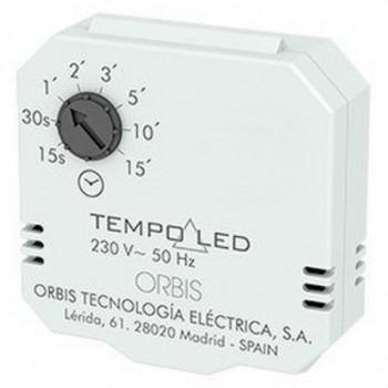Temporizador regulador TEMPO LED 15seg/15min 2-3 hilos con referencia OB200007 de la marca ORBIS.