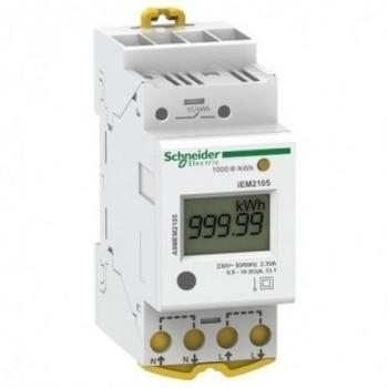 Contador energía IEM2105 monofásico 63A pulsos con referencia A9MEM2105 de la marca SCHNEIDER ELECTRIC.