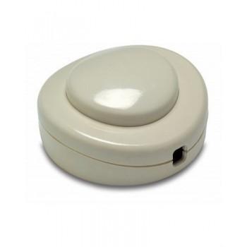 Interruptor de pie 2A-250V de color blanco con referencia 4405 de la marca FAMATEL.
