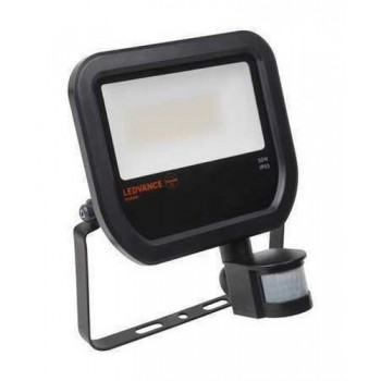 LUMINARIA FLOODLIGHT LED SENSOR 20W 3000K NEGRO con referencia 4058075814677 de la marca LEDVANCE.