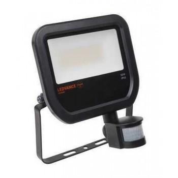 LUMINARIA FLOODLIGHT LED SENSOR 50W 3000K NEGRO con referencia 4058075814714 de la marca LEDVANCE.