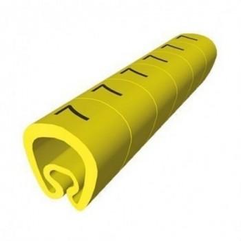 SEÑALIZACION PVC PLASTICO 7-18mm -A-AMARILLO con referencia 1813-A de la marca UNEX.