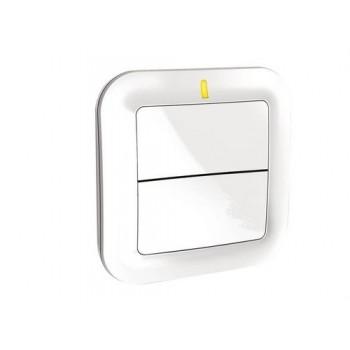 Interruptor emisor 2 teclas TYXIA2310 con referencia 6351380 de la marca DELTA DORE.