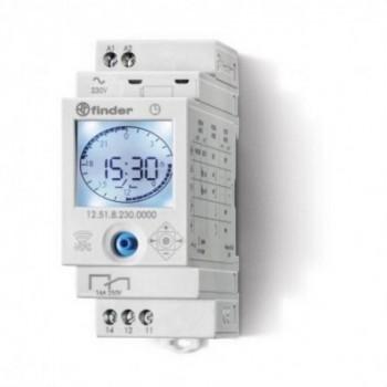 INTERRUPTOR HORARIO 2CO NFC ON/OFF/PULSO/ASTRO con referencia 12A282300000 de la marca FINDER.