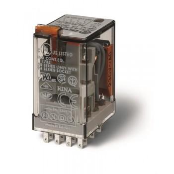 RELE INDUSTRIAL 24VDC 4 CONTACTOS 5A PULSADOR +LED+DIODO con referencia 553490240074 de la marca FINDER.
