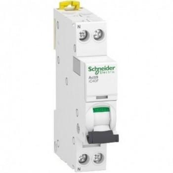 Interruptor automático en miniatura ACTI 9 IC40F 1PN C 16A 6000A/6kA con referencia A9P53616 de la marca SCHNEIDER ELECTRIC.