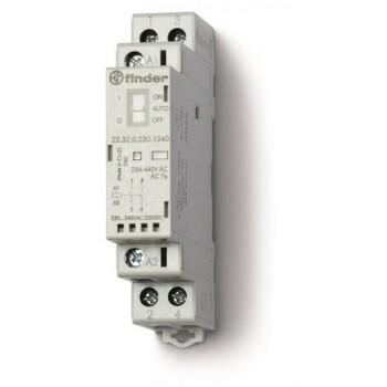 CONTACTOR MODULAR 2NA 24V AGNI INDICADOR MECANICO +LED con referencia 223200244320 de la marca FINDER.