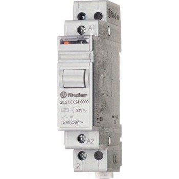 INTERRUPTOR UNIPOLAR 1NA 230VAC AgSnO2 RAIL 35mm con referencia 202182304000 de la marca FINDER.