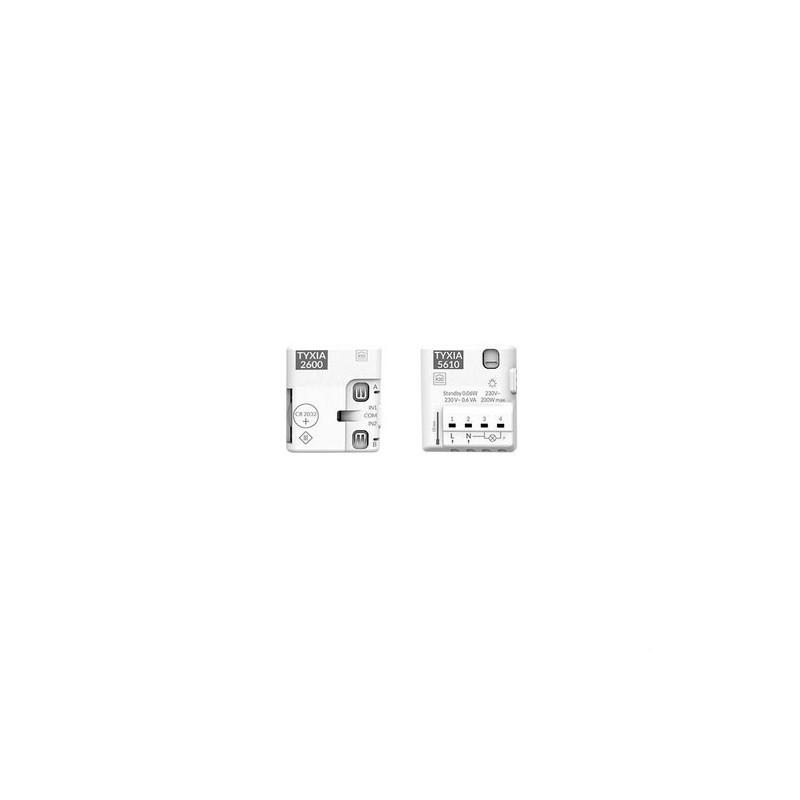 Pack conmutador inalámbrico PACK TYXIA 501 con neutro con referencia 6351407 de la marca DELTA DORE.