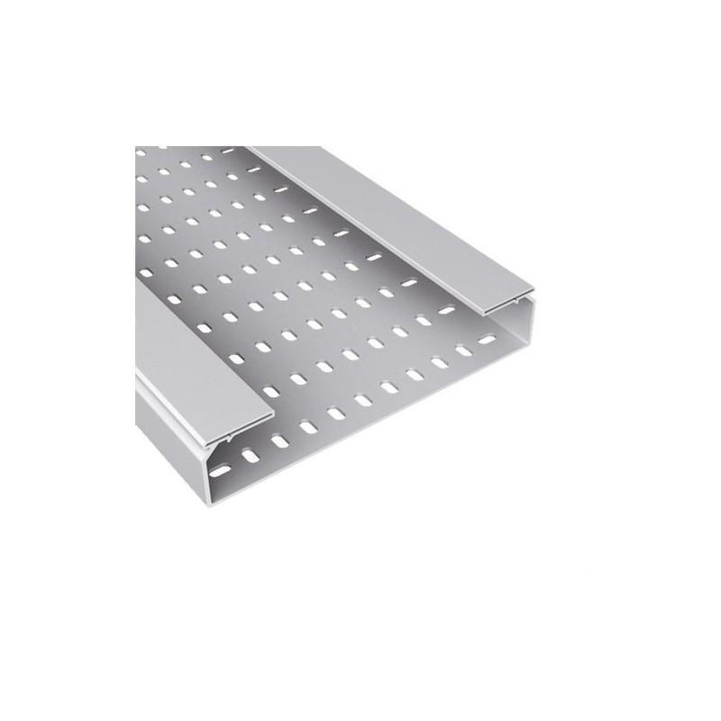 Bandeja 66 perforada PVC-M1 U23X 60x200 gris con referencia 66200 de la marca UNEX.