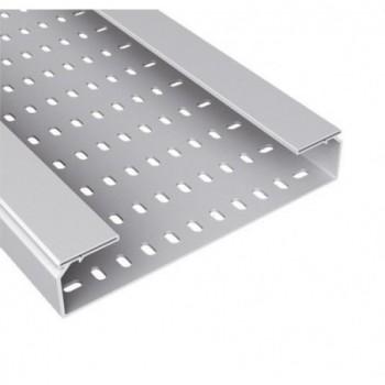 Bandeja 66 perforada PVC-M1 U23X 60x300 gris con referencia 66300 de la marca UNEX.