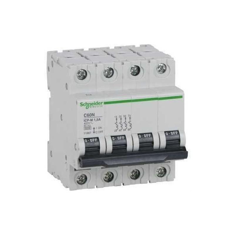 INTERRUPTOR AUTOMATICO CONTROL POTENCIA C60N ICP-M 4 POLOS 20A  con referencia 11974 de la marca SCHNEIDER ELEC.