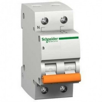 MAGNETOTERMICO DOMAE 6KA C 1 POLO+NEUTRO 10A  con referencia 12508 de la marca SCHNEIDER ELEC.
