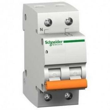 MAGNETOTERMICO DOMAE 6KA C 1 POLO+NEUTRO 16A  con referencia 12509 de la marca SCHNEIDER ELEC.