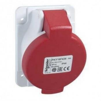 BASE EMPOTRAR 32A 3 POLOS+TOMA TIERRA 380-415V IP44  con referencia PKY32F434 de la marca SCHNEIDER ELEC.