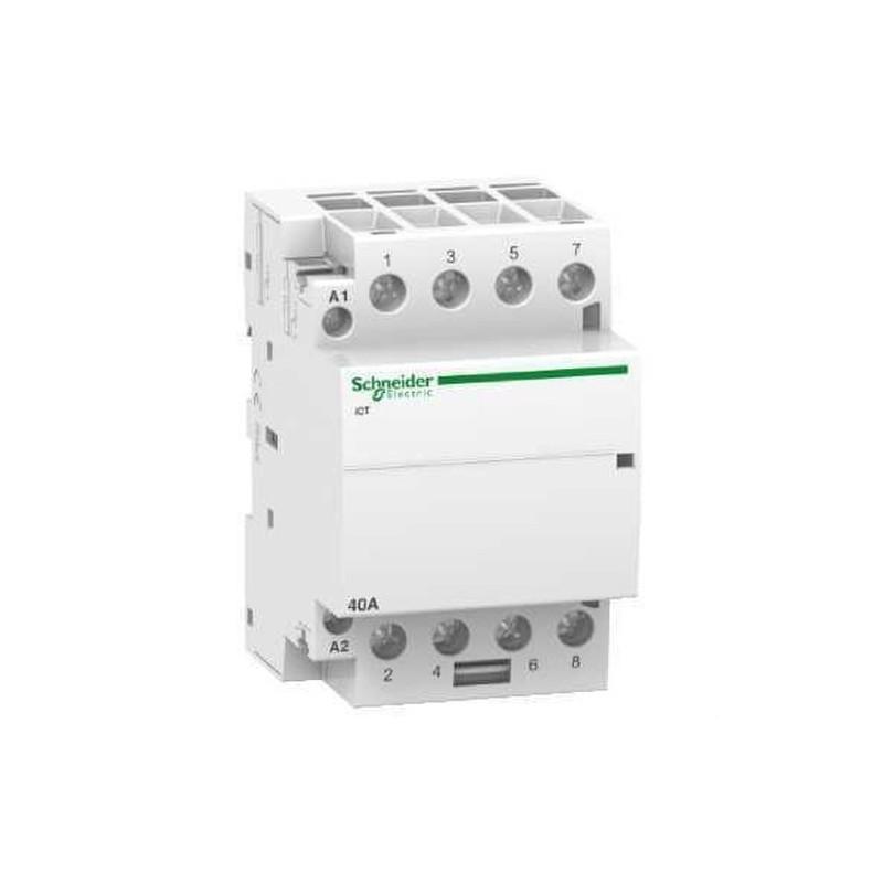 CONTACTOR ICT 40A 4NA 230/240V CORRIENTE ALTERNA  con referencia A9C20844 de la marca SCHNEIDER ELEC.