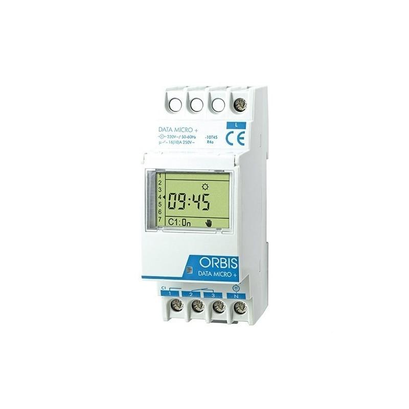 Interruptor horario digital DATA MICRO+1 circuito con referencia OB172012N de la marca ORBIS.