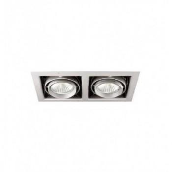 Downlight KARDAN 2 lámparas QR-CBC-51 2x50W gris con referencia 02312-2 de la marca NEXIA.
