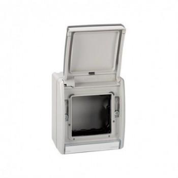 Caja vacía IP55 con tapa Simon 44 AQUA gris con referencia 4490783-035 de la marca SIMON.
