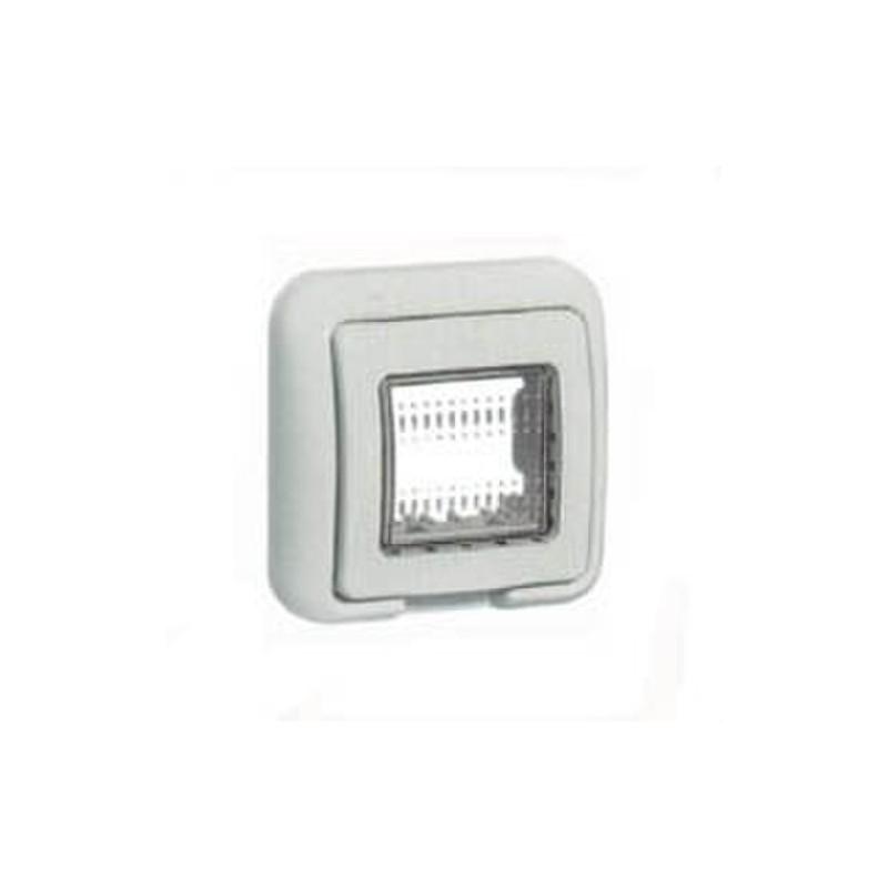 Para carcasa de interruptores y enchufes Matix 25501 1 plaza Bticino Funda Idrobox Caja de pared IP55 compuesta por base y puerta de protecci/ón