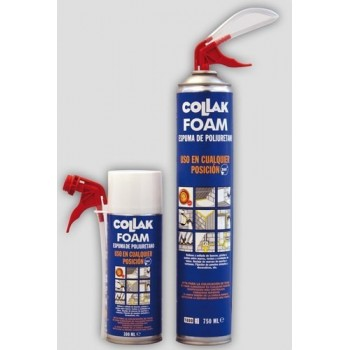 ESPUMA POLIURETANO FOAM 300ml CANULA con referencia 310300 de la marca COLLAK.