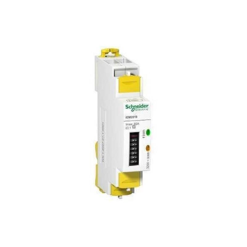 CONTADOR ENERGIA IEM2010 MONOFASICO +IMPULSOS con referencia A9MEM2010 de la marca SCHNEIDER ELEC.