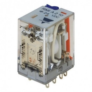 RELE ENCHUF.RMI DPDT 10A 24VCA  con referencia RMIA21024VAC de la marca CARLO GAVAZZI.