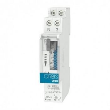 Interruptor horario modular UNO QRD 230V con referencia OB400232 de la marca ORBIS.