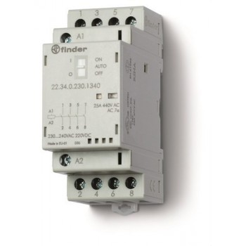 CONTACTOR MODULAR 4NA 230V AGNI INDICADOR +LED con referencia 223402304320 de la marca FINDER.