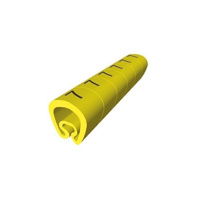 SEÑALIZACION PVC PLASTICO 2-5mm -K-AMARILLO con referencia 1811-K de la marca UNEX.