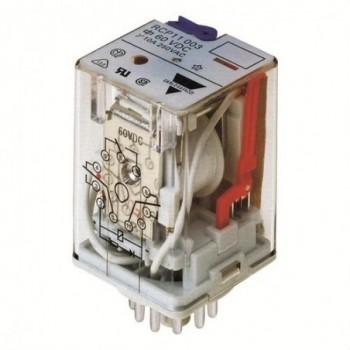 RELE ENCHUFABLE RCP 3CTOS.CONMUTADO 10A 24VCC con referencia RCP1100324VDC de la marca CARLO GAVAZZI.