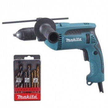 Taladro percutor HP1641K1X 680W diámetro 16mm con referencia HP1641K1X de la marca MAKITA.