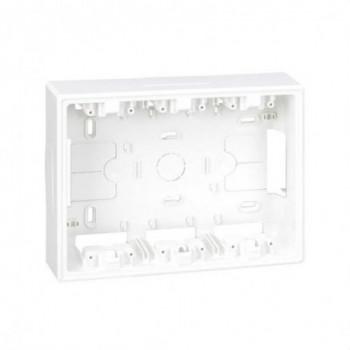 Base caja superficie 500 CIMA para KIT 3 módulos blanco con referencia 51050003-030 de la marca SIMON.