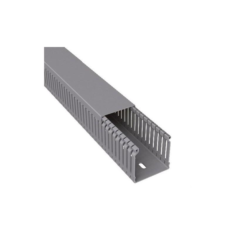 CANAL PARA CABLEADO 77 PVC-M1 80x80 U23X GRIS  con referencia 80.80.77 de la marca UNEX.