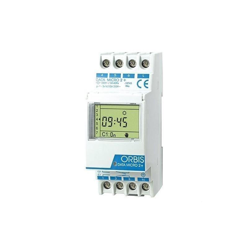 Interruptor horario digital DATA MICRO2+2circuitos con referencia OB171912N de la marca ORBIS.