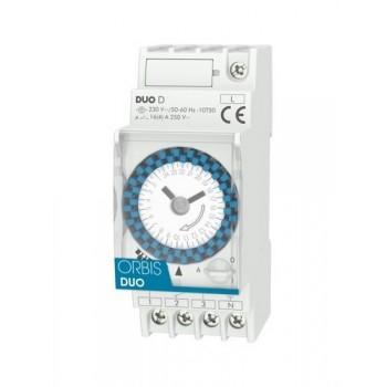 Interruptor horario modular DUO D 250VCA con referencia OB291032 de la marca ORBIS.