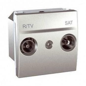 TOMA R-TV/SAT FINAL ALUMINIO SERIE UNICA TOP con referencia U3.455.30 de la marca SCHNEIDER ELEC.