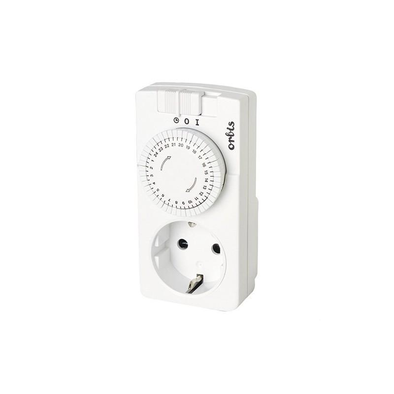 Interruptor horario anal¢gico enchufable DOMO D 230V con referencia OB162232 de la marca ORBIS.