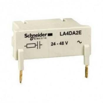 BLOQUE ANTIPARASITO ENGANCHABLE TIPO RC con referencia LA4DA2U de la marca SCHNEIDER ELEC.